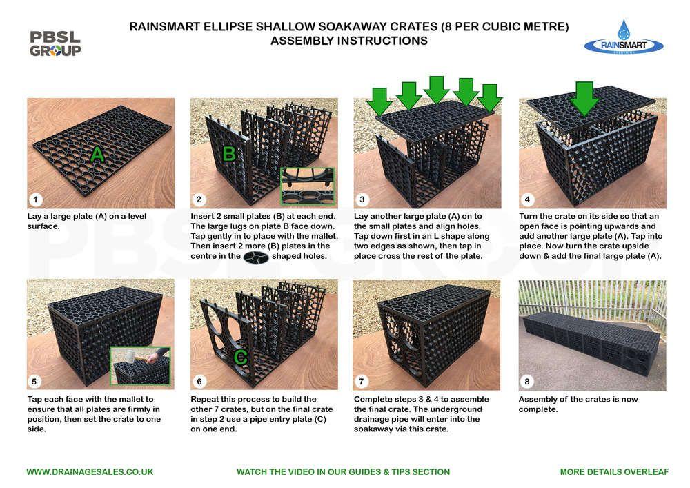 Rainsmart Shallow Soakaway Set Flat-Packed 1 Cubic Metre - Option 1