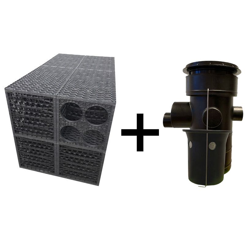Rainsmart Ellipse Soakaway Set Assembled With Silt Trap & Lid 1 Cubic Metre