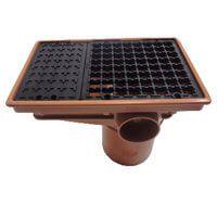 Drainage Rectangular Hopper and Grid - 110mm