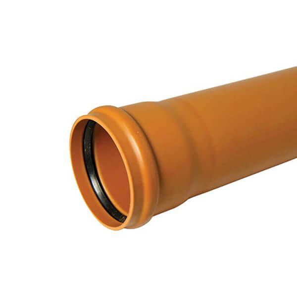 Drainage Pipe Single Socket - 160mm x 3mtr