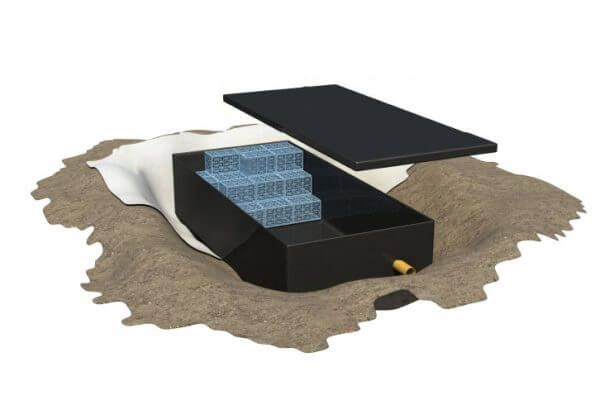 Impermeable Liner for Attenuation - Landflex AS Shoebox - Standard Triple 50 Cubic Metre