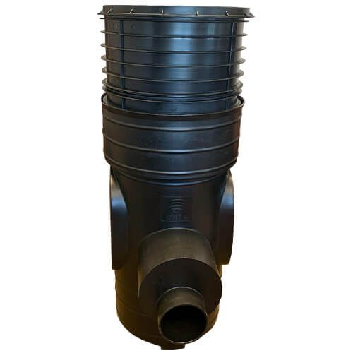 Sentinel Silt Trap With Filter And Lid - 1315mm Deep x 450mm Diameter With 160mm Outlets