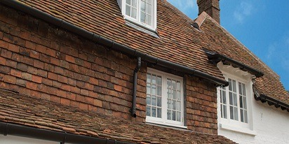 Cast Iron Effect Deepflow Guttering - Blue Bell Cottages, Beltring, Kent