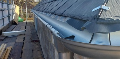 Galvanised Steel Guttering - The Rise, Sevenoaks, East Sussex