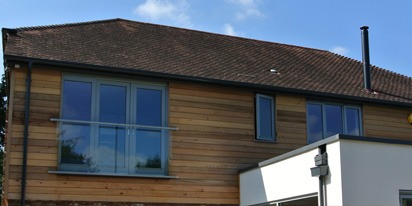 Anthracite Grey Guttering and Roofline - Warmlake Road, Sutton Valence, Kent