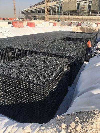 Soakaway crate excavation